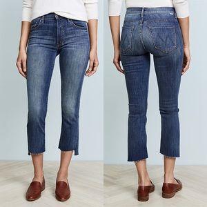 Mother Insider Crop step fray jeans size 25